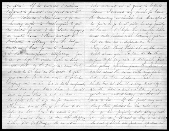 Letter from Mabel Hubbard Bell to Eliza Symonds Bell, September 28, 1879