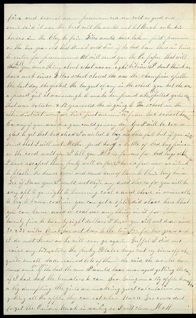 Letter from Mattie V. Oblinger and Uriah W. Oblinger to Thomas Family, September 30, 1879