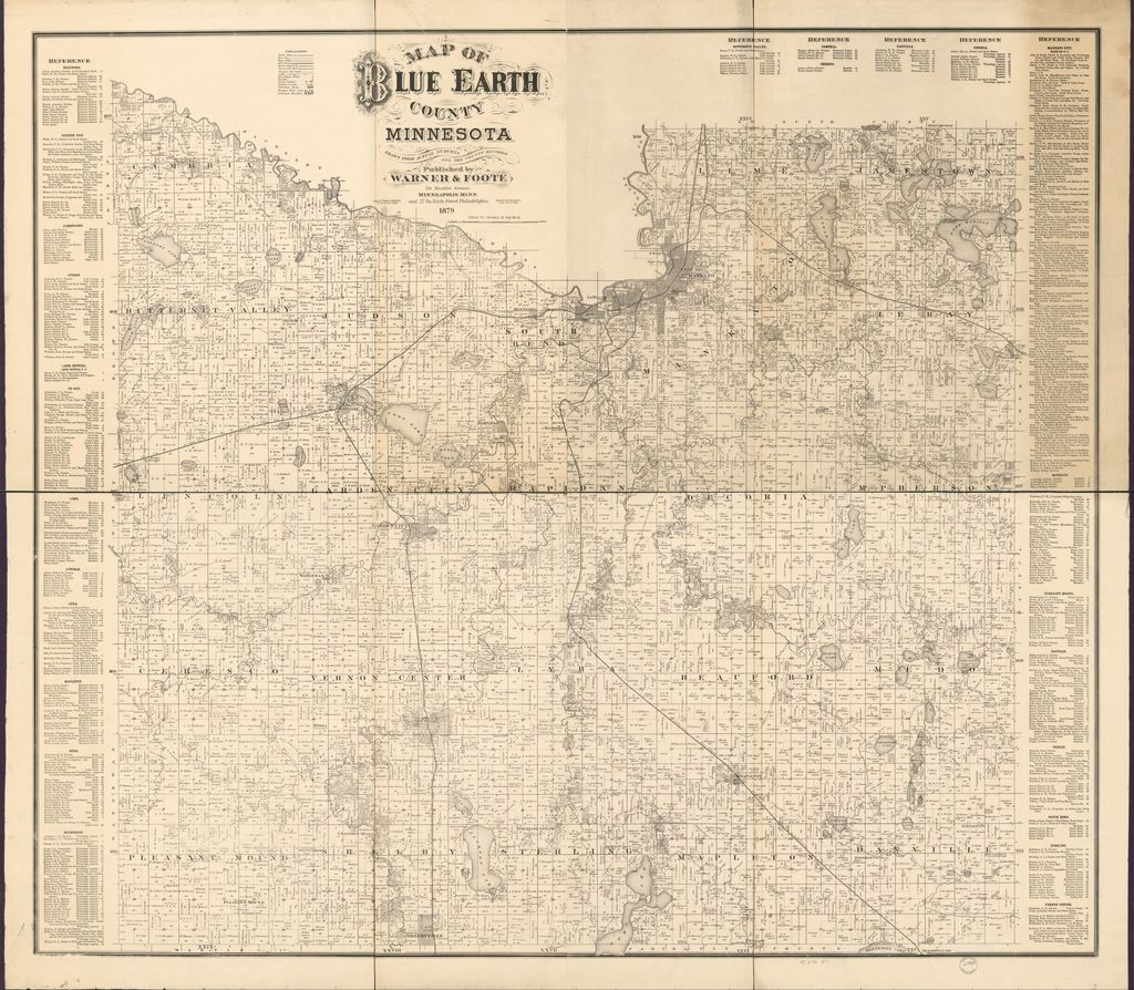 Map of Blue Earth County, Minnesota : drawn from actual surveys and the county records.