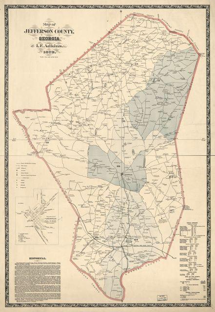 Map of Jefferson County, Georgia /