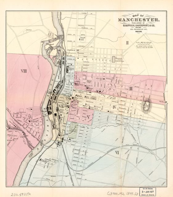 Map of Manchester.