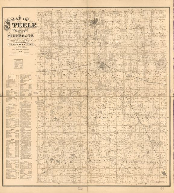 Map of Steele County, Minnesota : drawn from actual surveys and the county records.