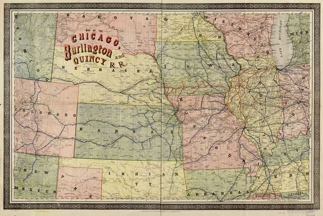 Map of the Chicago, Burlington and Quincy R.R.