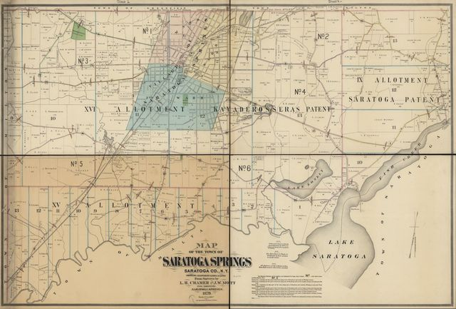 Map of the town of Saratoga Springs, Saratoga Co., N.Y.