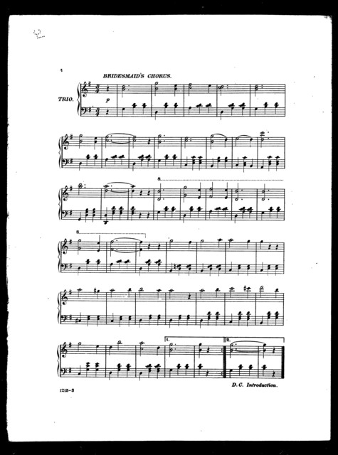 Medley waltz, from Trail by Jury