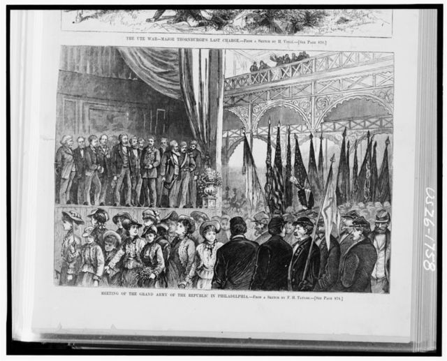 Meeting of the Grand Army of the Republic in Philadelphia / from a sketch by F.H. Taylor.