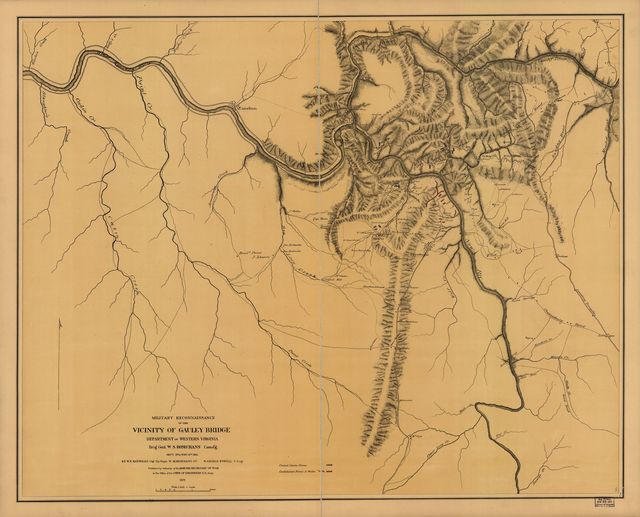 Military reconnaissance in the vicinity of Gauley Bridge, Department of western Virginia, Brig. Genl. W. S. Rosecrans, comd'g., Sept. 11th to Nov. 15, 1861