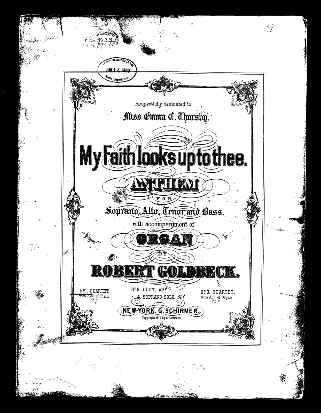 My faith looks up to thee, no. 1 [quartet]