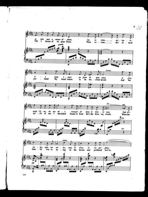 Nuit d'etioles - Starlit eve [sop. or tenor]