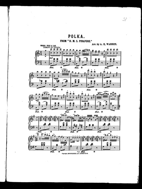 """Polka, from """"H. M. S. Pinafore"""""""