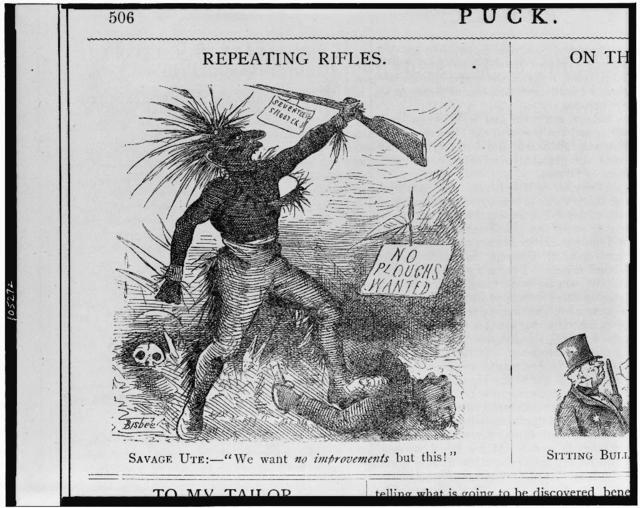 """Repeating rifles. Savage Ute:--""""We want no improvements but this! / Bisbee."""