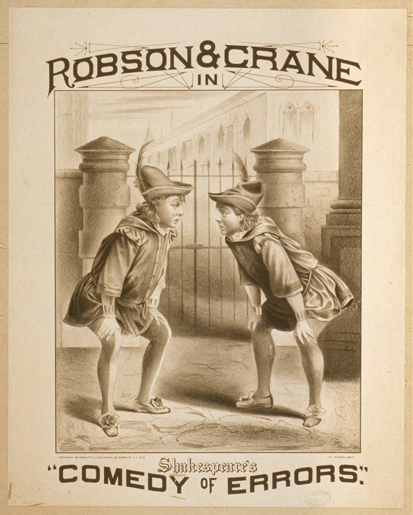"Robson & Crane in Shakespeare's ""Comedy of errors"""