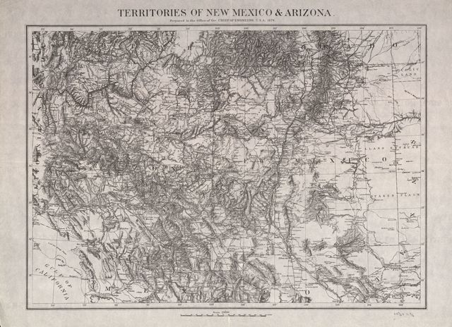 Territories of New Mexico & Arizona / prepared in the Office of the Chief of Engineers U.S.A., 1879.