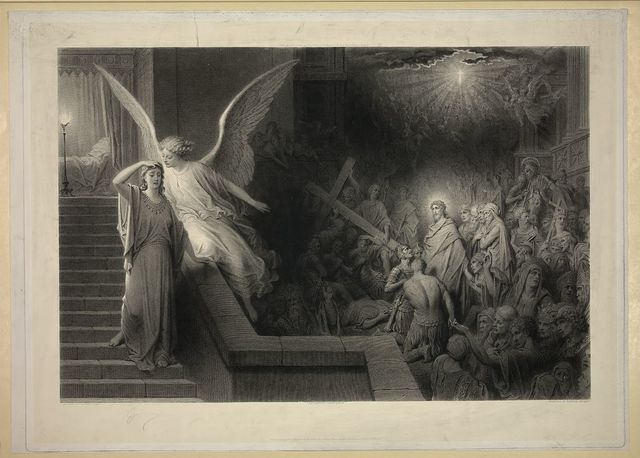The dream of Pilate's wife / painted by Gustave Doré.