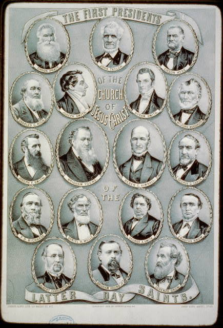 The first presidents of the Church of Jesus Christ of the Latter Day Saints