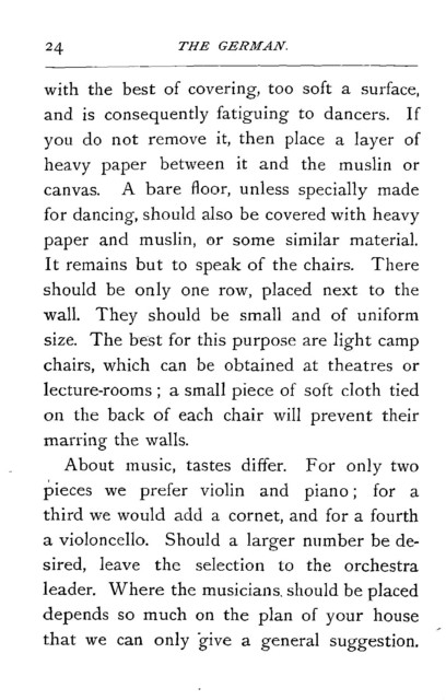 The  German How to give it. How to lead it. How to dance it