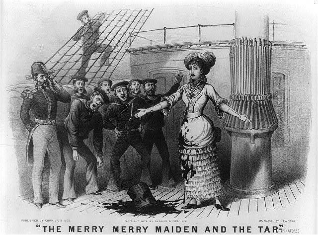 """""""The merry merry maiden and the tar""""--(Pinafore)"""