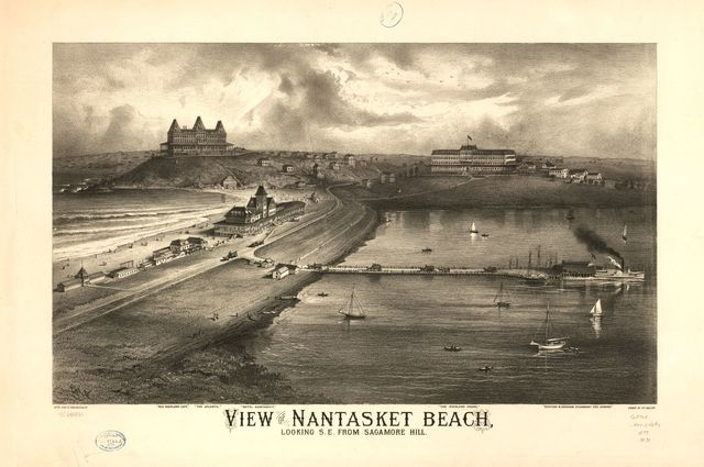 View of Nantasket Beach, looking s.e. from Sagamore Hill.