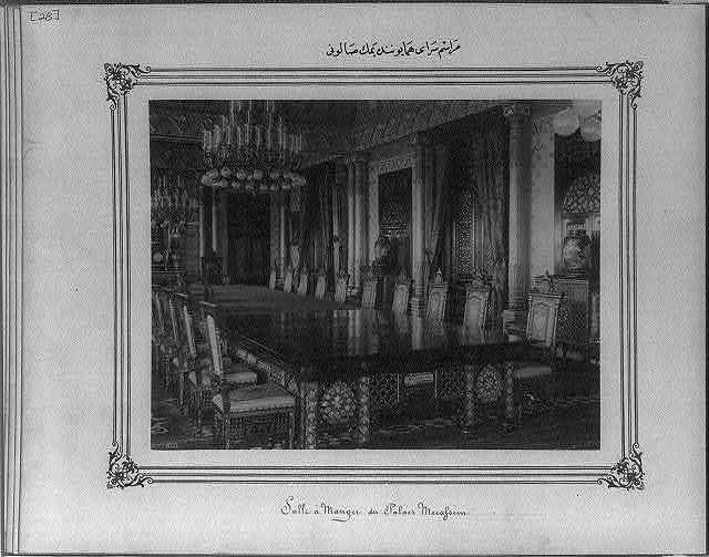 [A dining room in the Imperial Ceremonial Palace (Yıldız)]