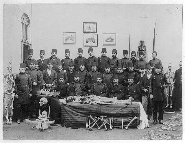[A group photograph of the students and the teachers of the Mekteb-i Tıbbiye-yi Mülkiye (Civil Medical School)] / Abdullah Frères, Phot., Constantinople.