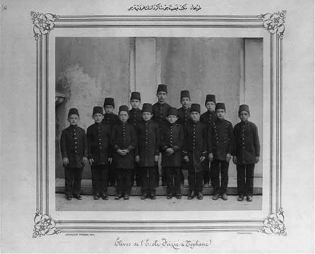[A group photograph of the students of Feyziye school in Tophane] / Abdullah Frères, Phot., Constantinople.