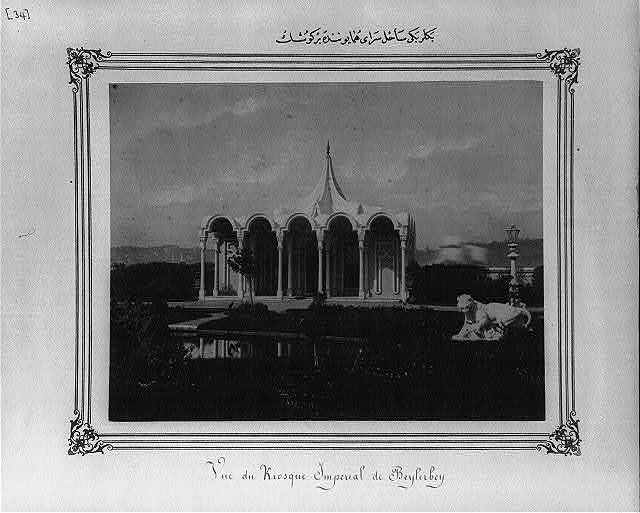 [A pavilion of the Imperial Palace on the shores of Beylerbeyi]