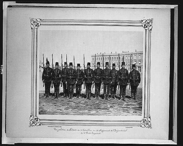 [A platoon from the First Battalion of the First Infantry Regiment of the Imperial Guard] / Abdullah Frères, Phot., Constantinople.