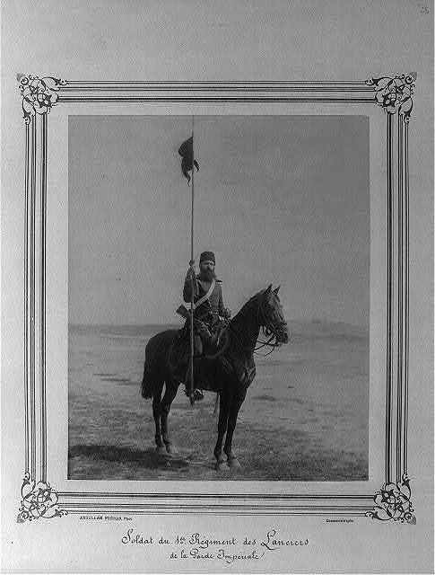 [A soldier of the First Regiment of Lancers of the Imperial Guard] / Abdullah Frères, Phot., Constantinople.