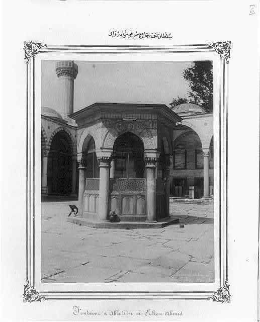 [Ablution fountain at the Sultanahmet Camii (mosque)] / Abdullah Frères.