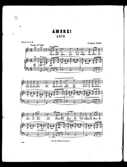 Amore!, no. 2 [mezzo soprano in F]