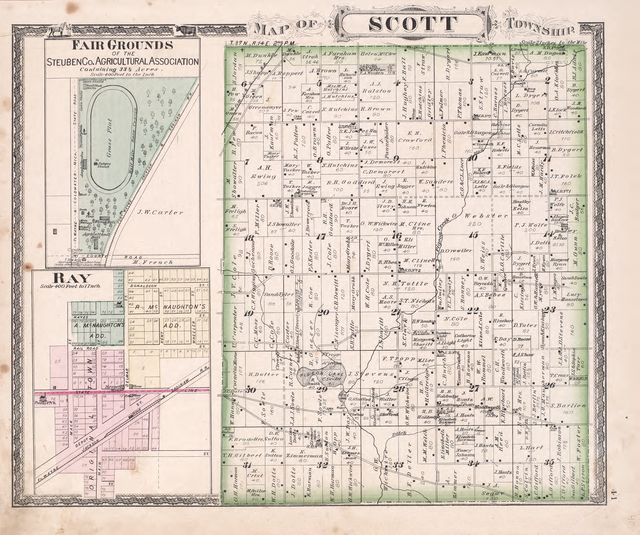 Steuben County Indiana Map.Atlas Of Steuben Co Indiana To Which Are Added Various General
