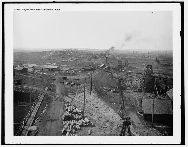 Aurora iron mines, Ironwood, Mich.