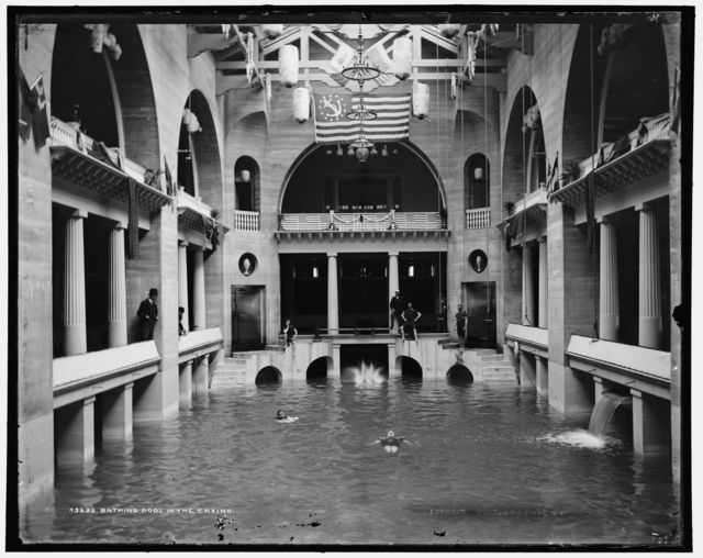 Bathing pool in the casino