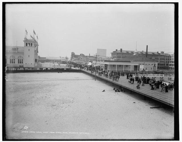 Board walk west from Steel Pier, Atlantic City, N.J.