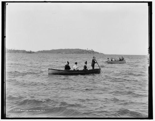 Boating off Presque Isle