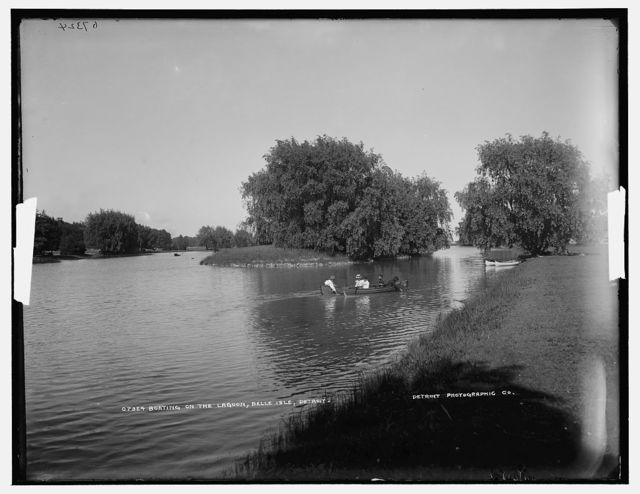 Boating on the lagoon, Belle Isle, Detroit