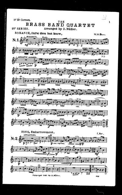 Brass band quartet [second series]