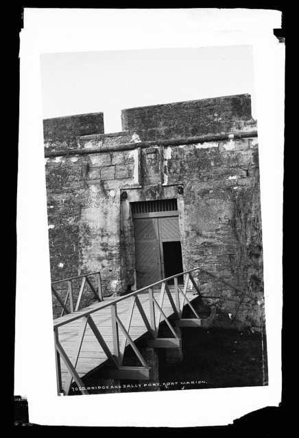 Bridge and sally port, Fort Marion