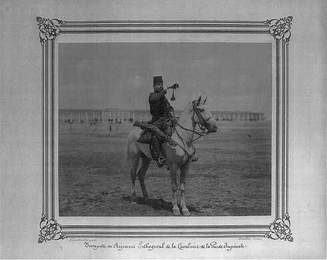 [Bugler of the Ertuğrul Cavalry Regiment of the Imperial Guard] / Constantinople, Abdullah Frères.