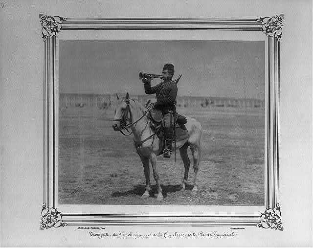 [Bugler of the Second Cavalry Regiment of the Imperial Guard] / Abdullah Frères, Phot., Constantinople.