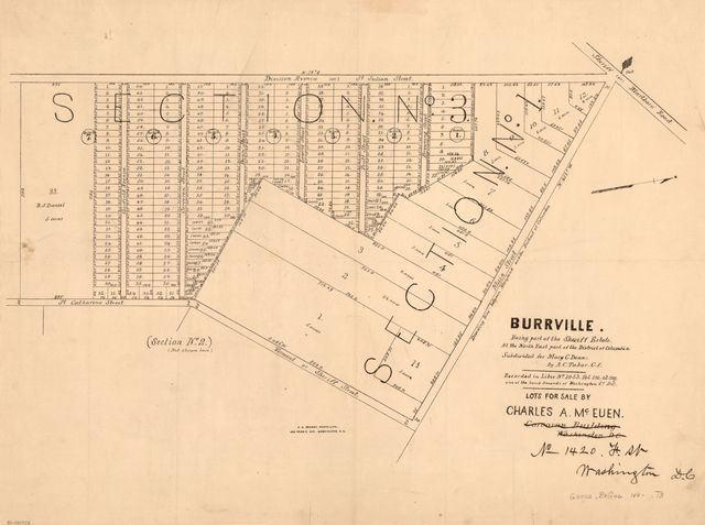 Burrville, being part of the Sheriff Estate, at the north east part of the District of Columbia /