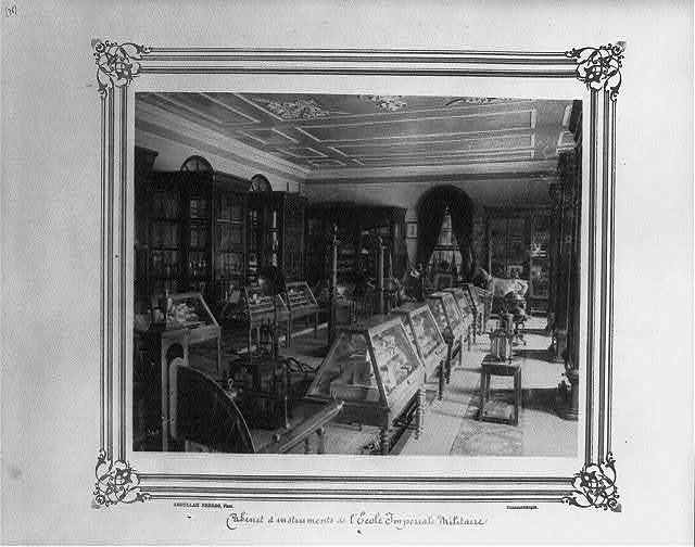 [Cabinet of instruments at the Imperial Military Academy] / Abdullah Frères, Phot., Constantinople.