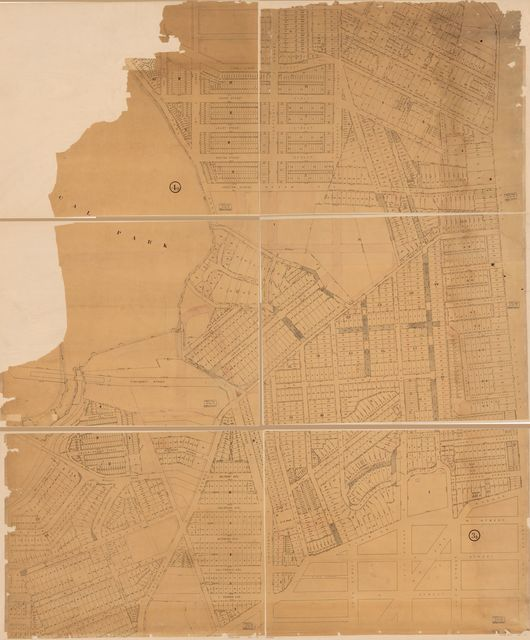 [Cadastral map of part of N.W. Washington D.C. immediately north of Florida Avenue].