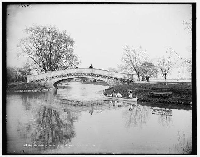 Canoeing at Belle Isle, Detroit