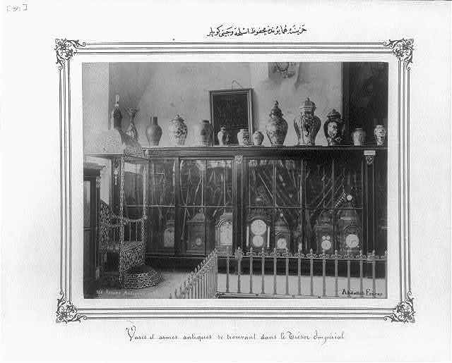 [Chinese jars and weapons in the Imperial Treasury] / Abdullah Frères.