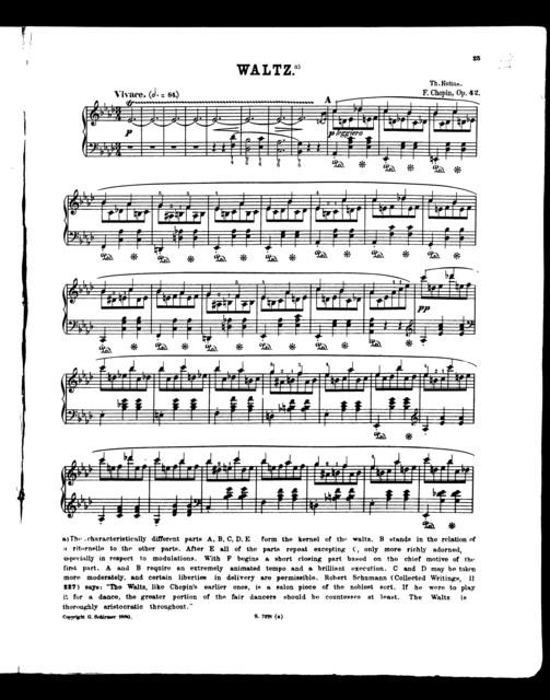 Chopin waltzes, vol. VI