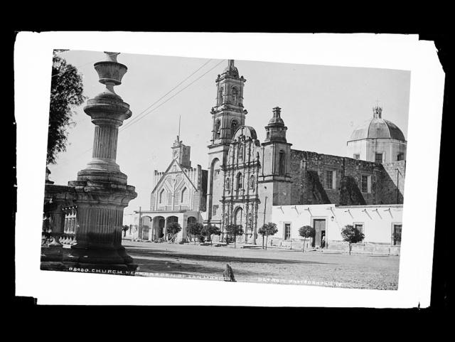 Church near garden of San Marcos
