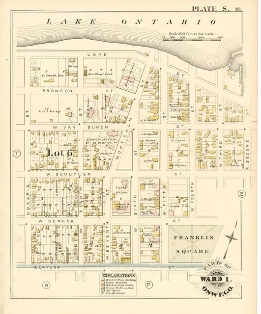 City atlas of Oswego, New York : from official records, private plans and actual surveys.