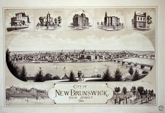 City of New Brunswick, New Jersey / Packard & Butler Lith. Philada.