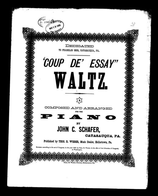 """ Coup de' essay"" waltz"